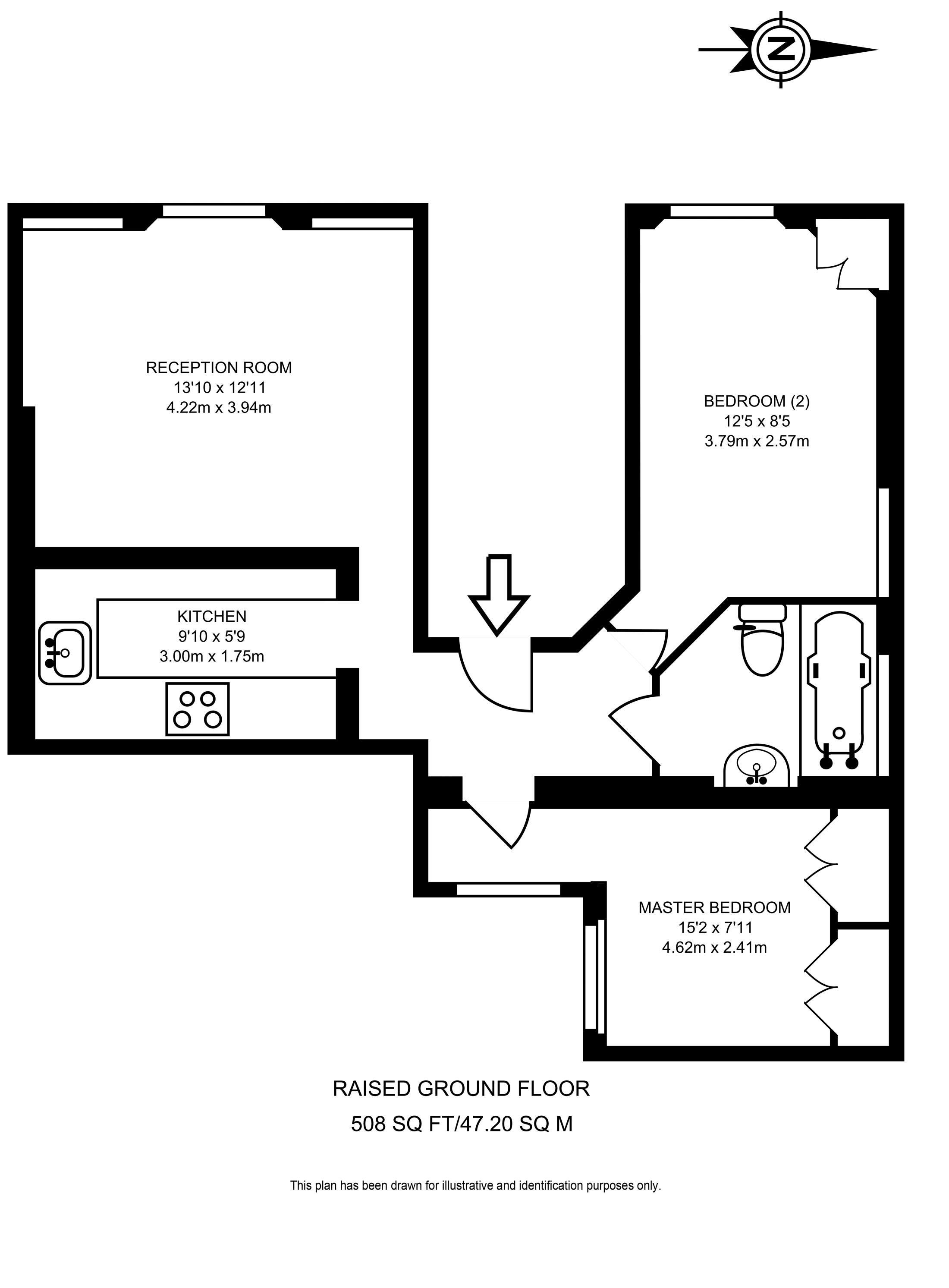 Floorplan 114 Warwick Way, Pimlico, London SW1V