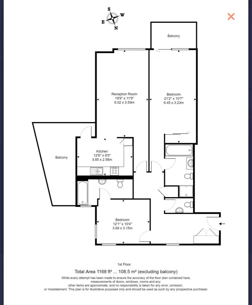 Floorplan Eagle Wharf 138 Grosvenor Street SW1V